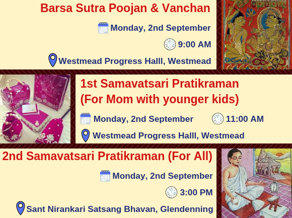 Paryushan Maha Parva 2019 - Key Events 2