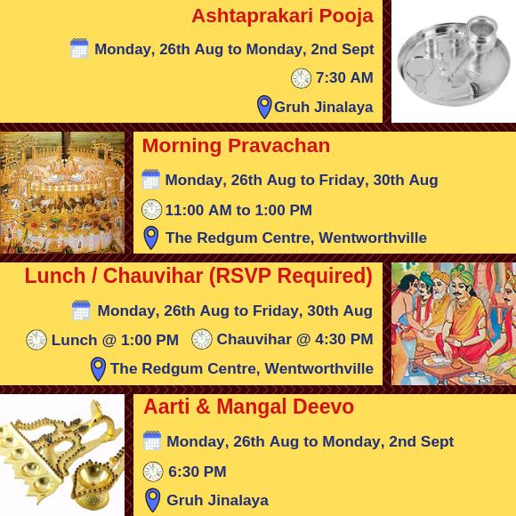 Paryushan Maha Parva 2019 - Daily Activities - 1