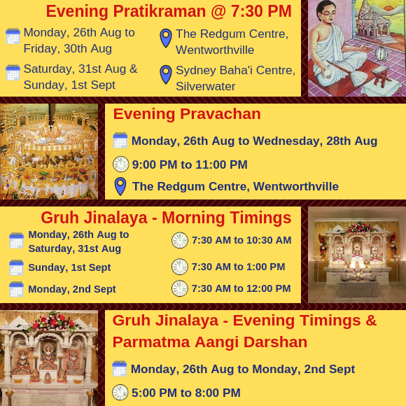 Paryushan Maha Parva 2019 - Daily Activities - 2
